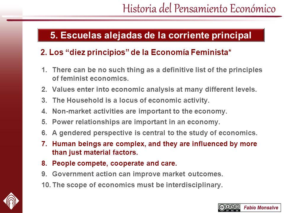 2. Los diez principios de la Economía Feminista*