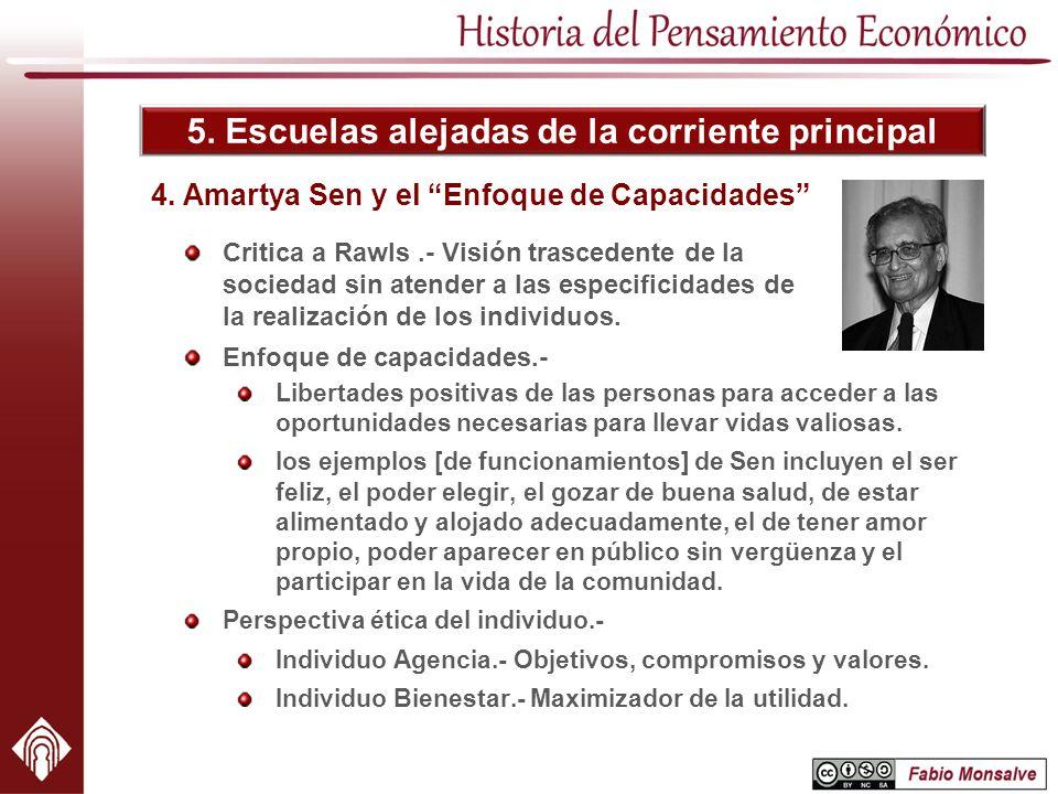 4. Amartya Sen y el Enfoque de Capacidades