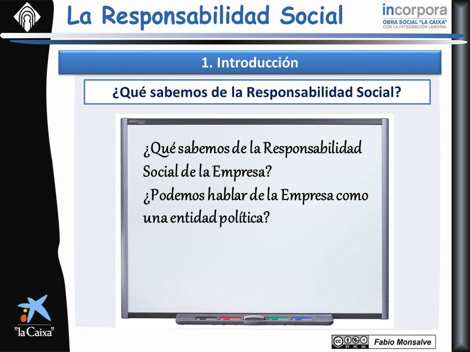 ¿Qué sabemos de la Responsabilidad Social