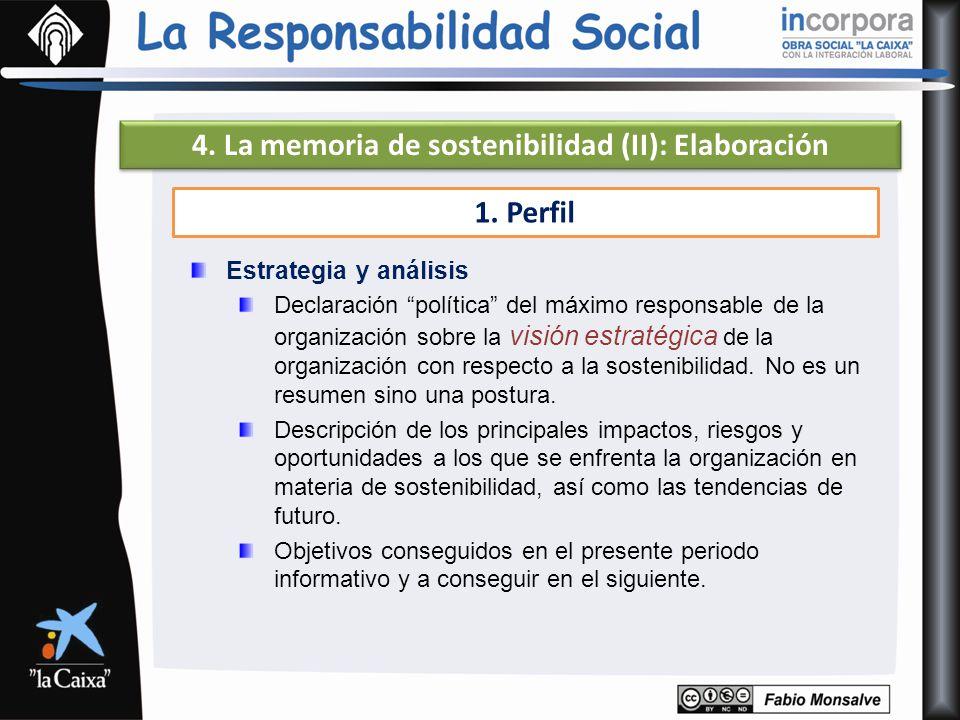 4. La memoria de sostenibilidad (II): Elaboración
