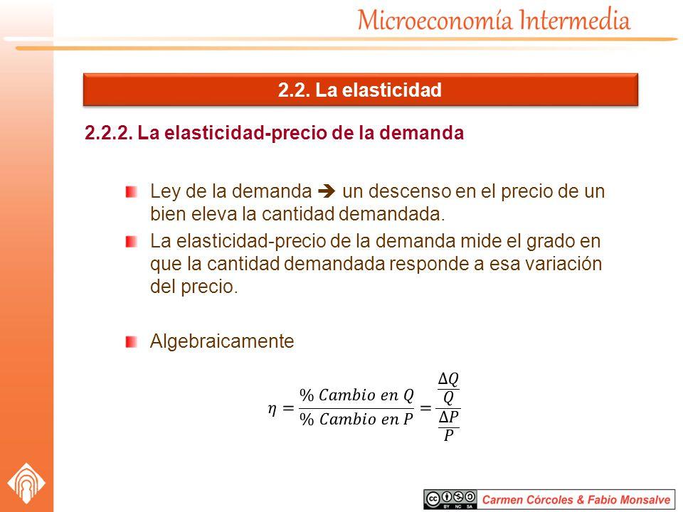 2.2.2. La elasticidad-precio de la demanda