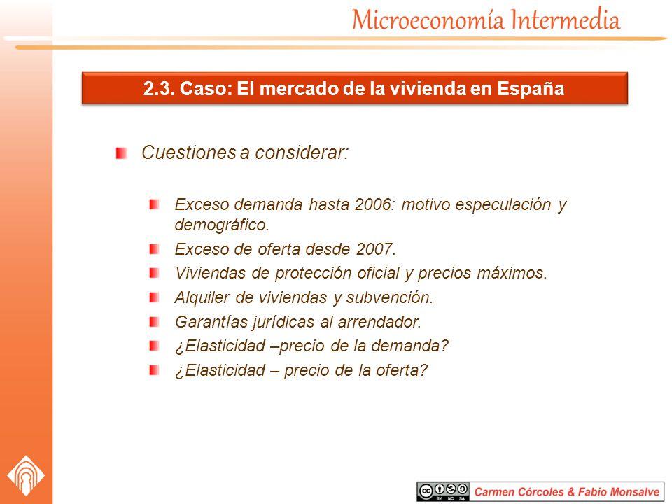 2.3. Caso: El mercado de la vivienda en España