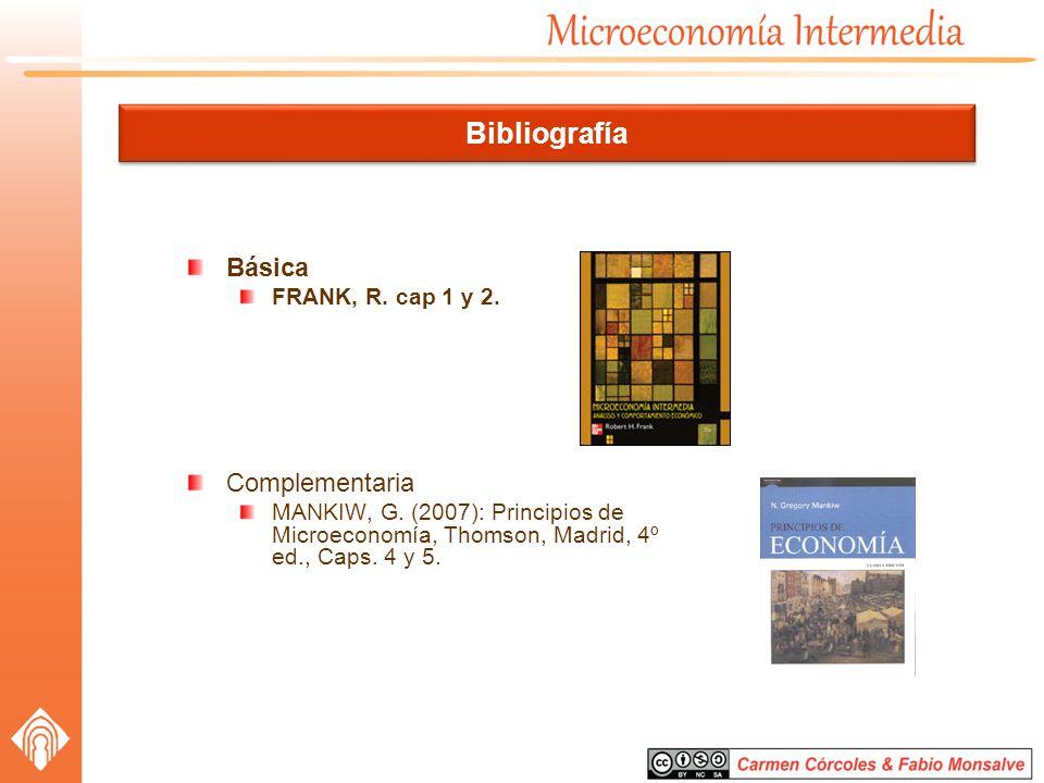 Bibliografía Básica Complementaria FRANK, R. cap 1 y 2.