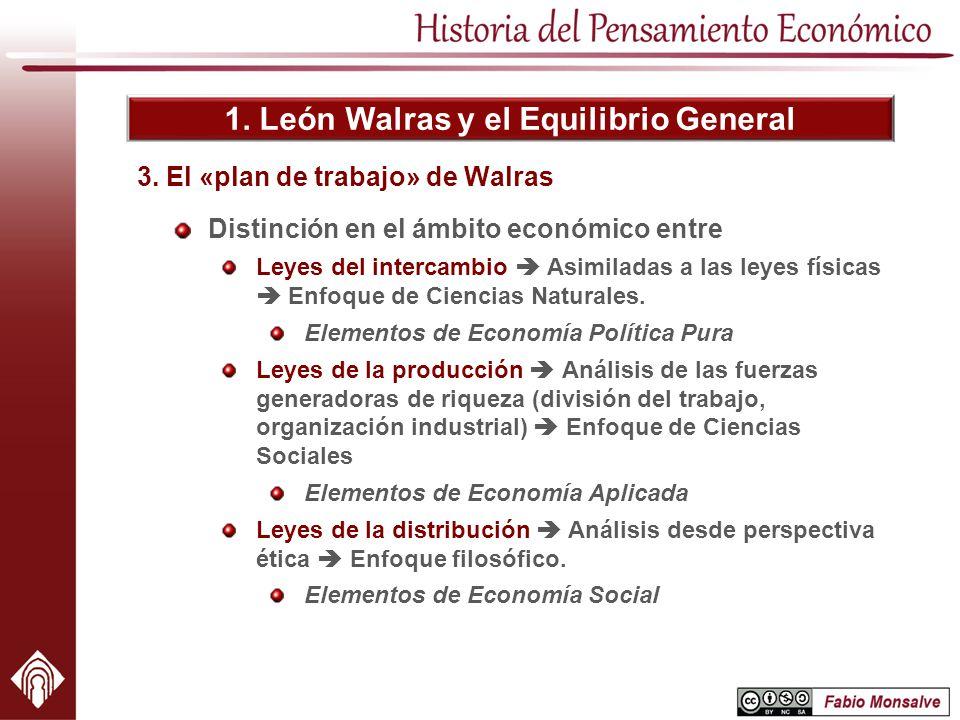 3. El «plan de trabajo» de Walras