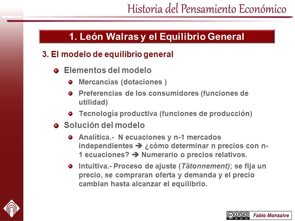 3. El modelo de equilibrio general