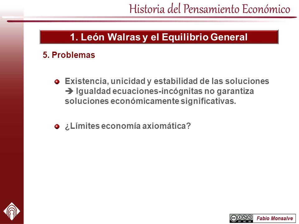 1. León Walras y el Equilibrio General