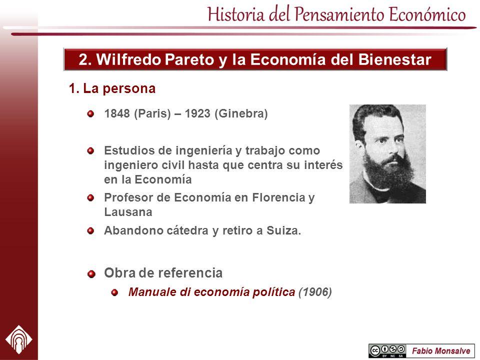 2. Wilfredo Pareto y la Economía del Bienestar