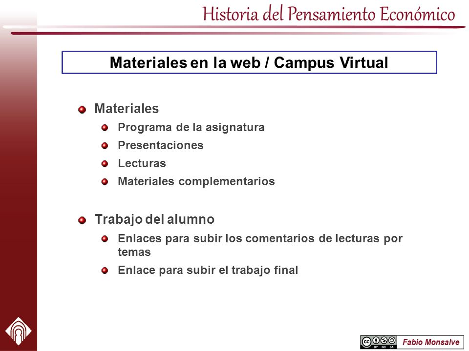 Materiales en la web / Campus Virtual