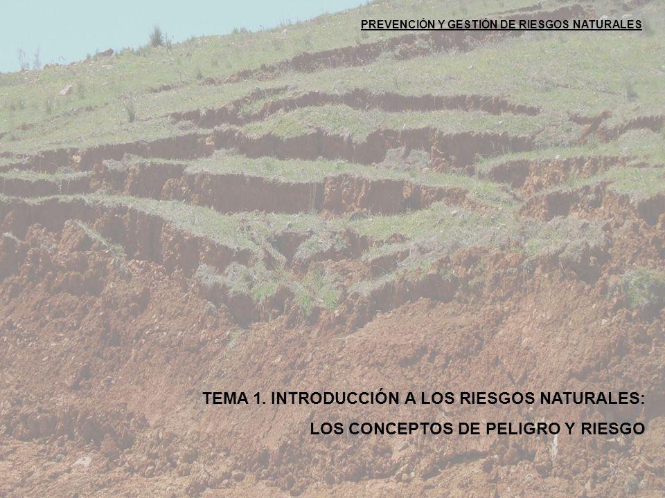 TEMA 1. INTRODUCCIÓN A LOS RIESGOS NATURALES: