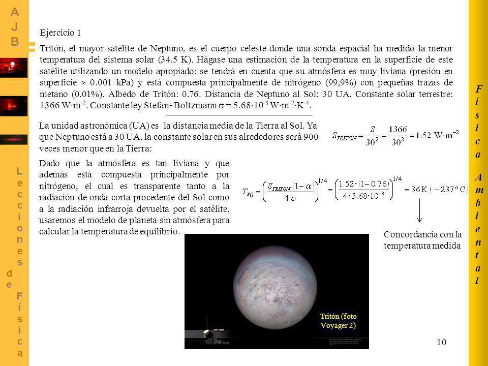 Física Ambiental Ejercicio 1