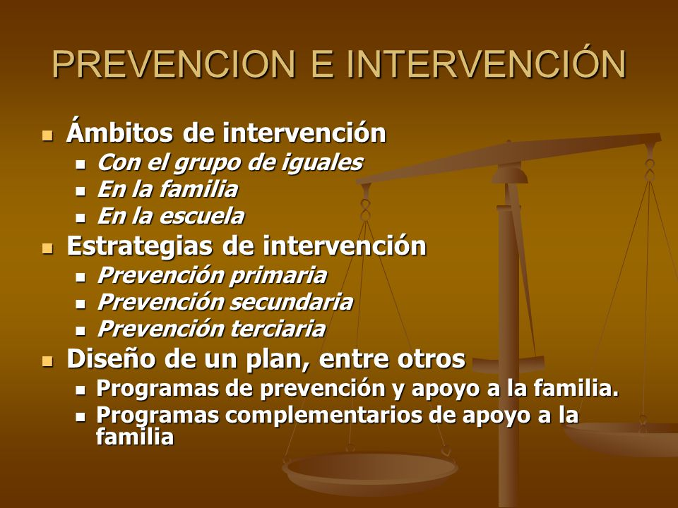 PREVENCION E INTERVENCIÓN