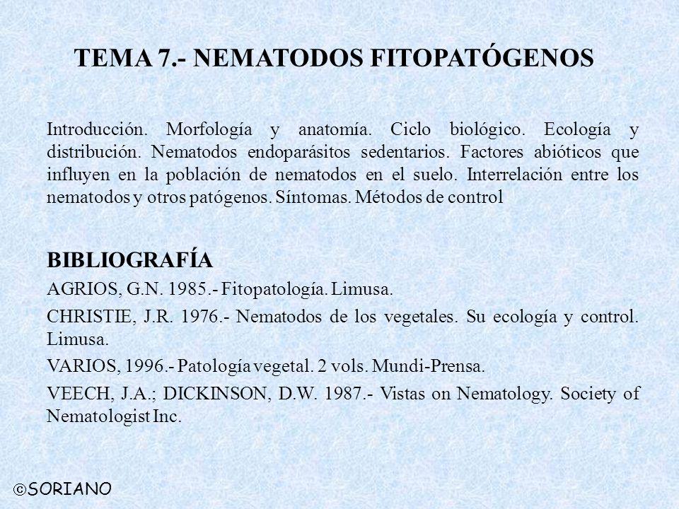 TEMA 7.- NEMATODOS FITOPATÓGENOS