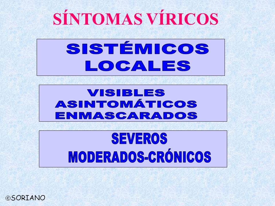 SÍNTOMAS VÍRICOS SISTÉMICOS LOCALES VISIBLES ASINTOMÁTICOS