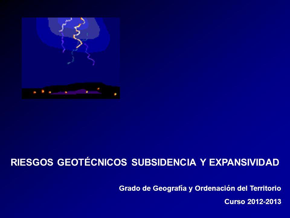 RIESGOS GEOTÉCNICOS SUBSIDENCIA Y EXPANSIVIDAD