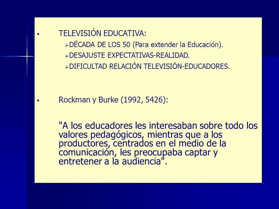 TELEVISIÓN EDUCATIVA: