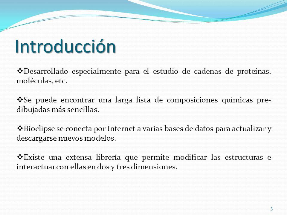 Introducción Desarrollado especialmente para el estudio de cadenas de proteínas, moléculas, etc.