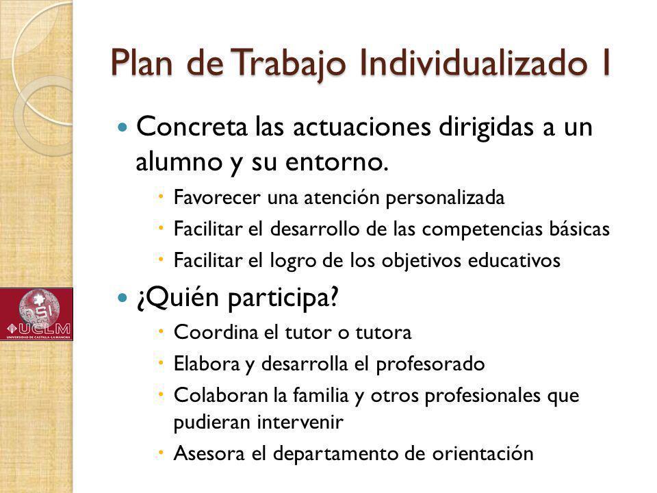 Plan de Trabajo Individualizado I