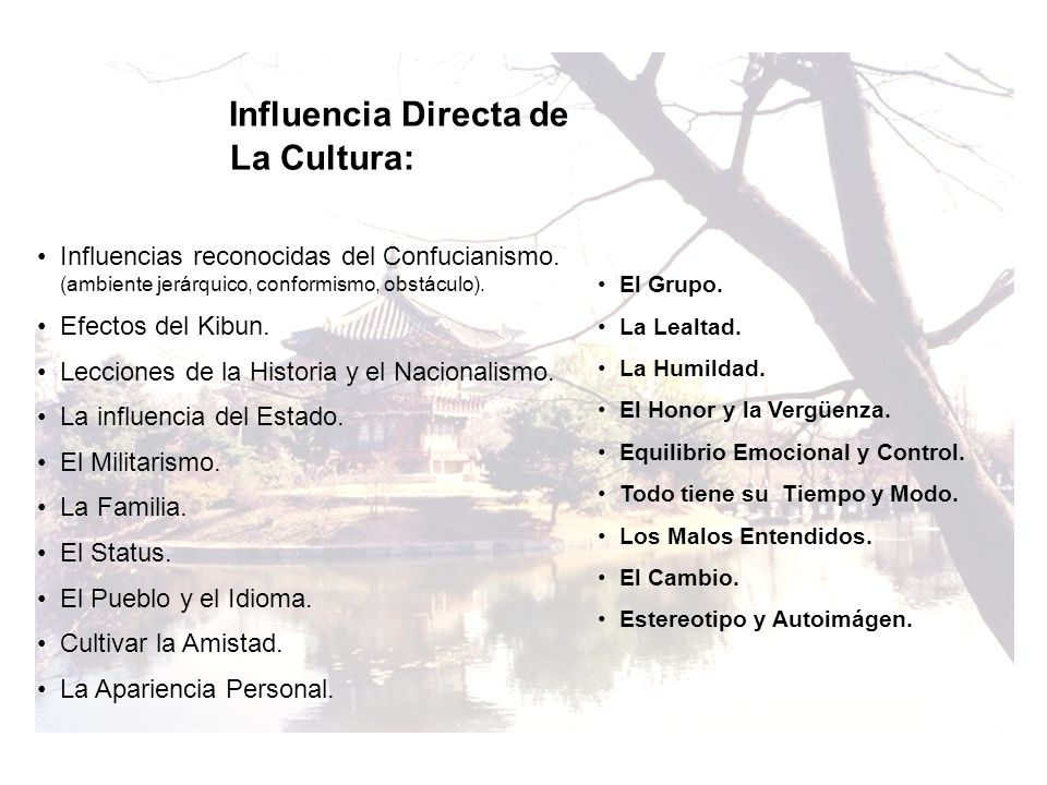 Influencia Directa de La Cultura: