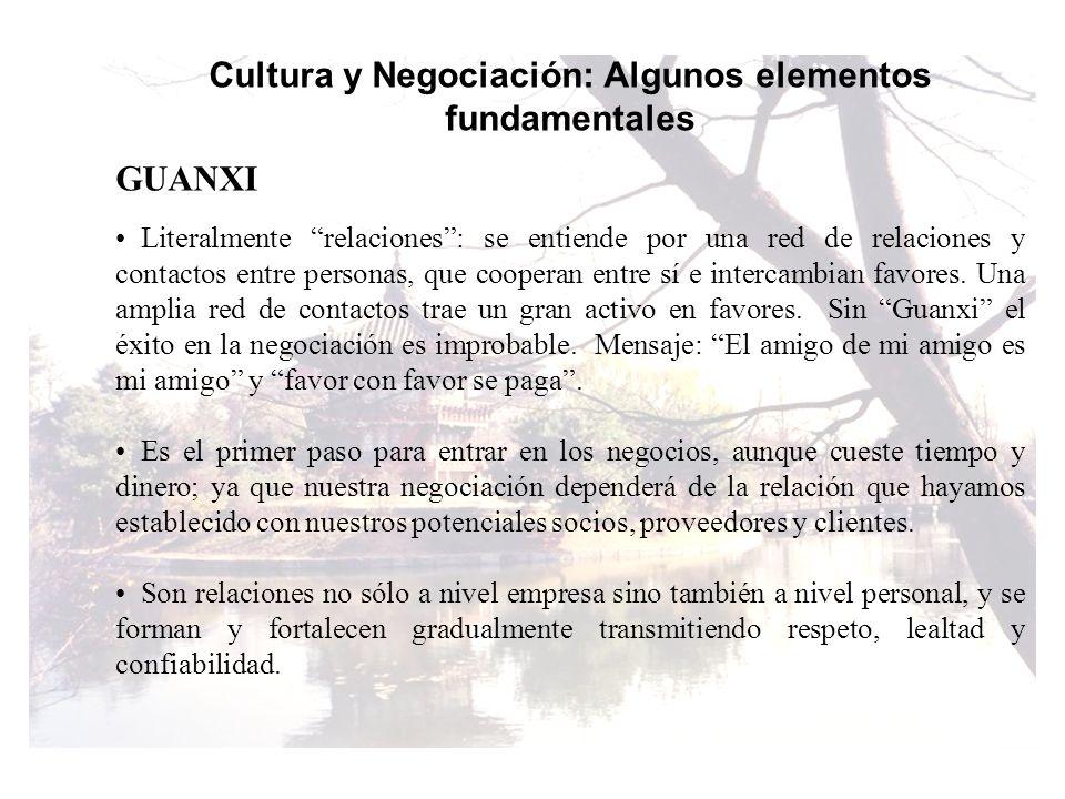 Cultura y Negociación: Algunos elementos fundamentales
