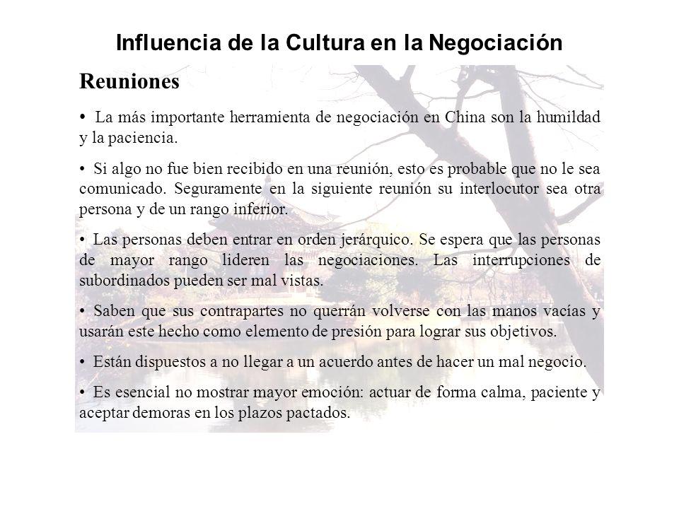 Influencia de la Cultura en la Negociación