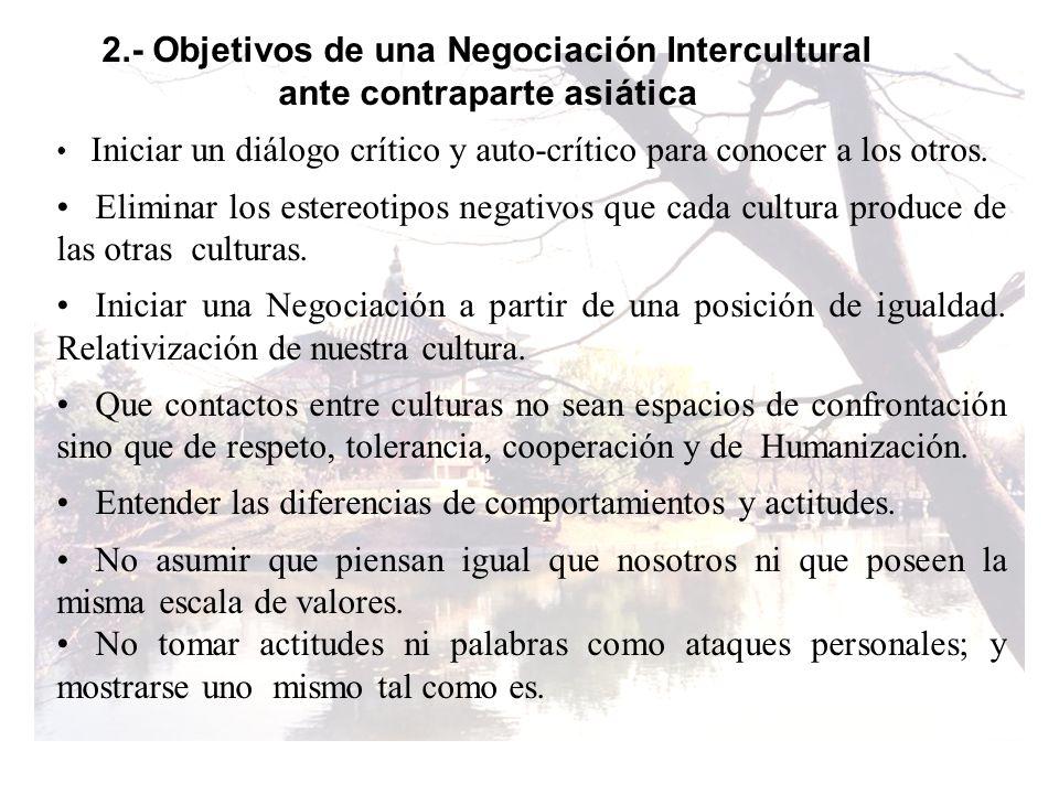 2.- Objetivos de una Negociación Intercultural