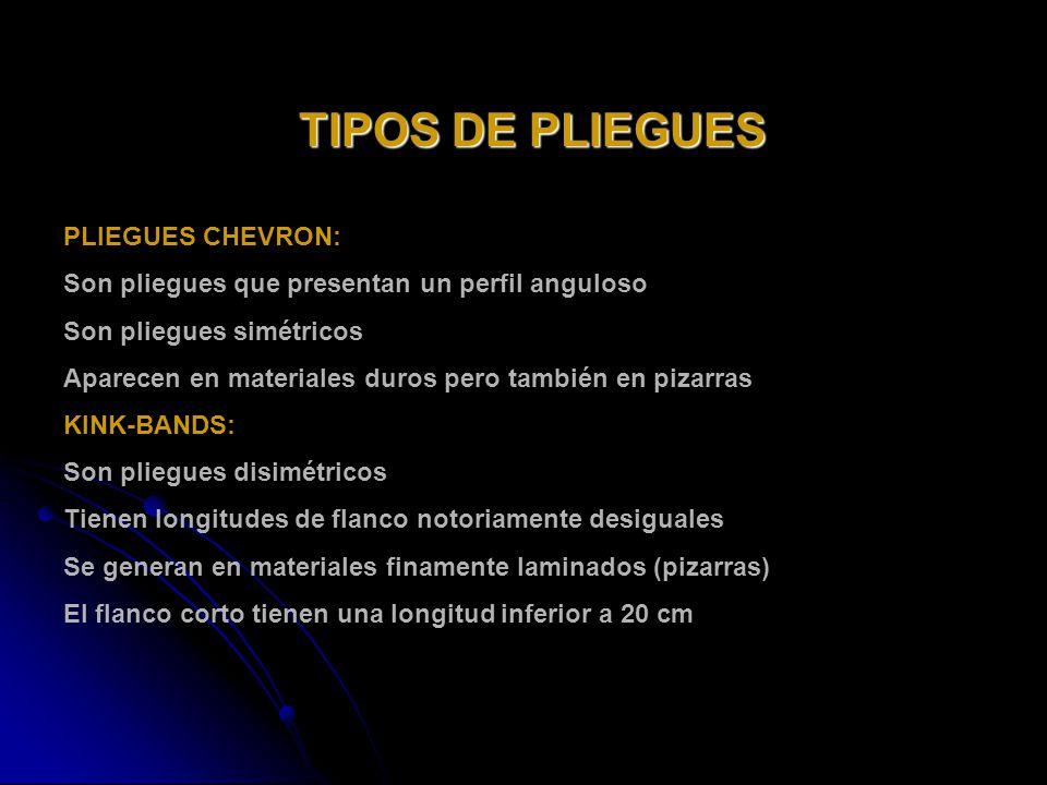 TIPOS DE PLIEGUES PLIEGUES CHEVRON: