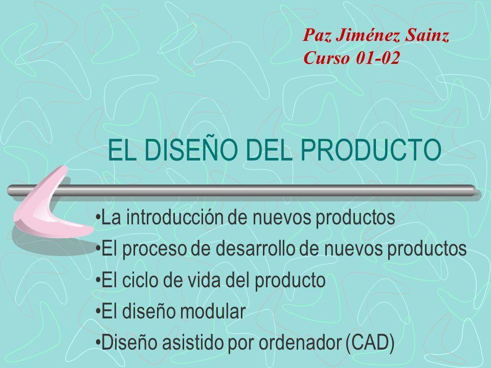 EL DISEÑO DEL PRODUCTO La introducción de nuevos productos