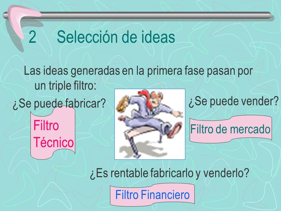 2 Selección de ideas Filtro Técnico