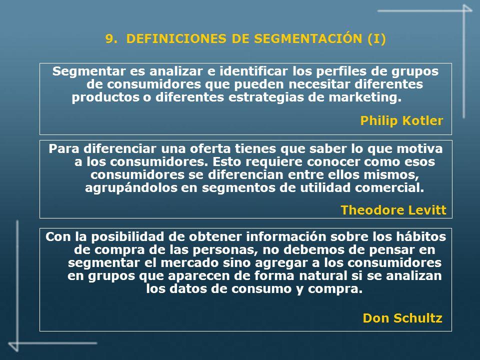 9. DEFINICIONES DE SEGMENTACIÓN (I)