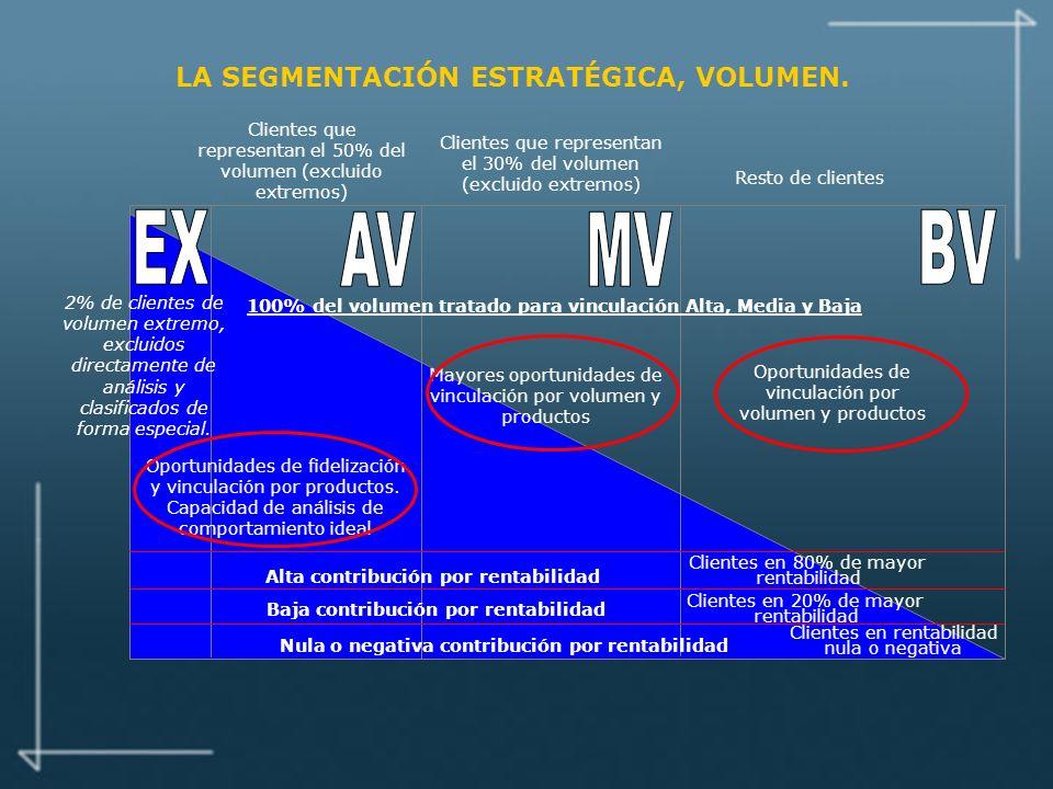 LA SEGMENTACIÓN ESTRATÉGICA, VOLUMEN.