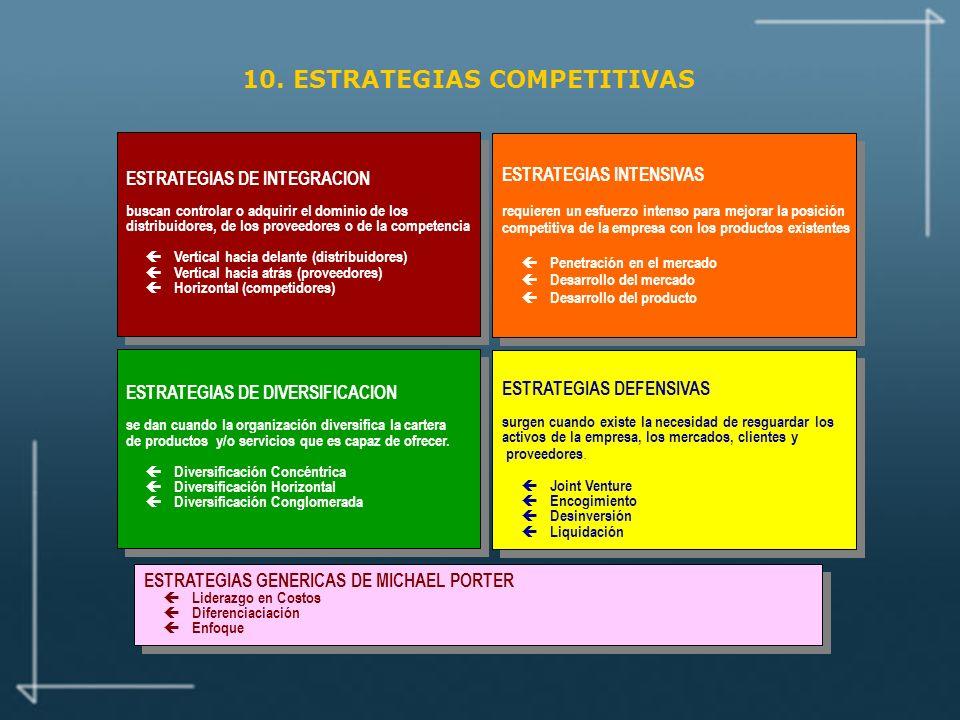 10. ESTRATEGIAS COMPETITIVAS