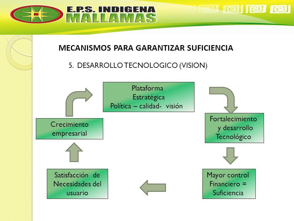 MECANISMOS PARA GARANTIZAR SUFICIENCIA