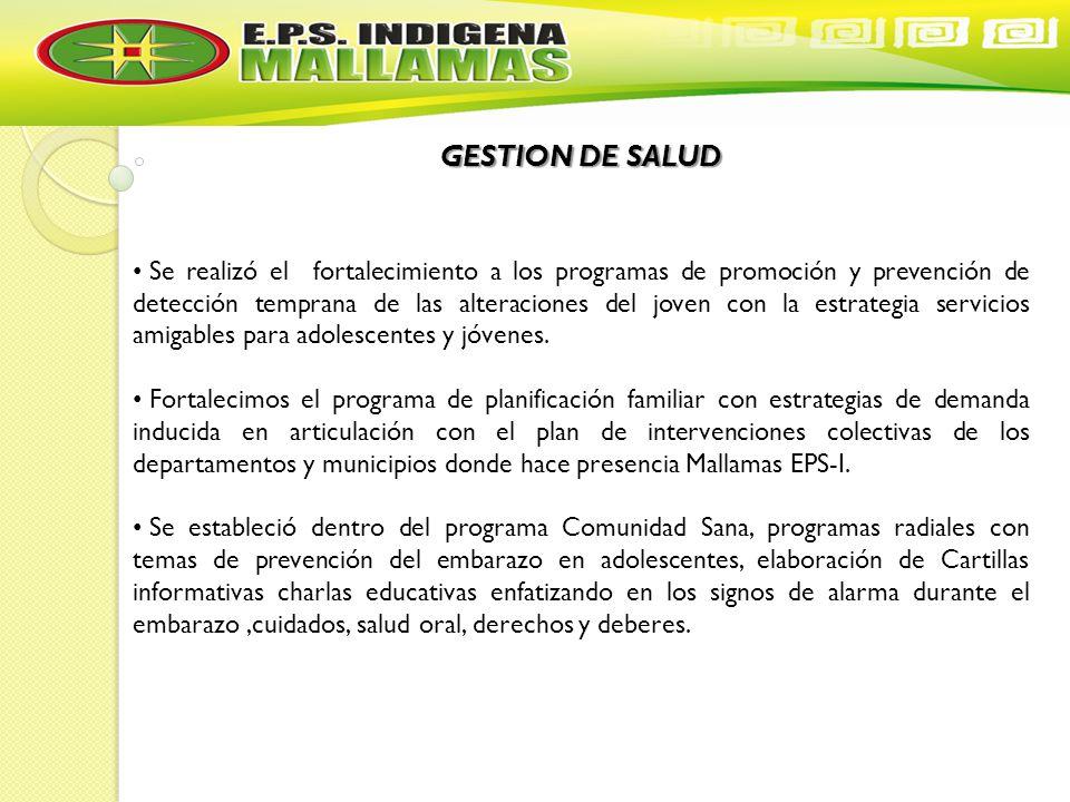 GESTION DE SALUD