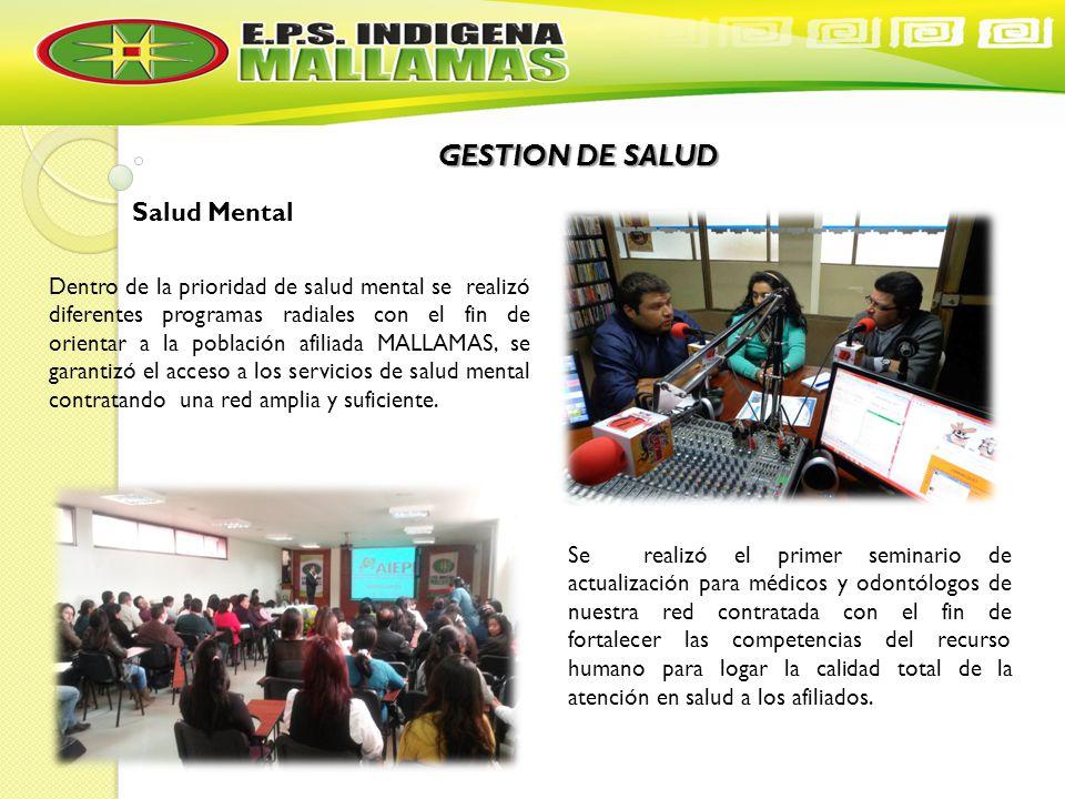 GESTION DE SALUD Salud Mental