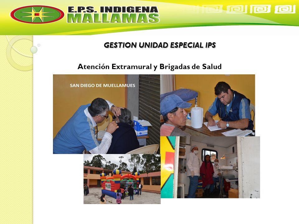 GESTION UNIDAD ESPECIAL IPS Atención Extramural y Brigadas de Salud