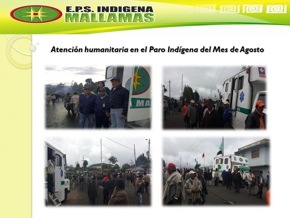 Atención humanitaria en el Paro Indígena del Mes de Agosto