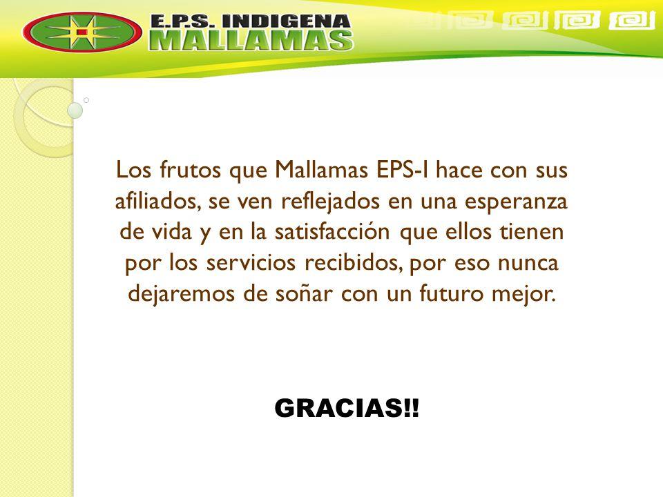 Los frutos que Mallamas EPS-I hace con sus afiliados, se ven reflejados en una esperanza de vida y en la satisfacción que ellos tienen por los servicios recibidos, por eso nunca dejaremos de soñar con un futuro mejor.
