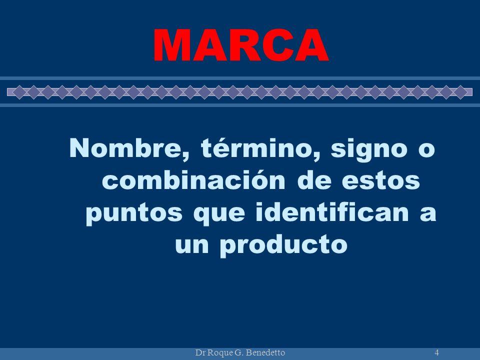 MARCA Nombre, término, signo o combinación de estos puntos que identifican a un producto.