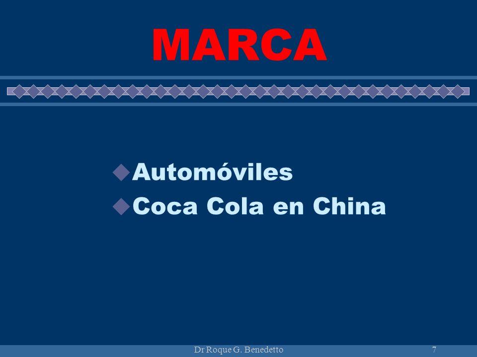 MARCA Automóviles Coca Cola en China Dr Roque G. Benedetto