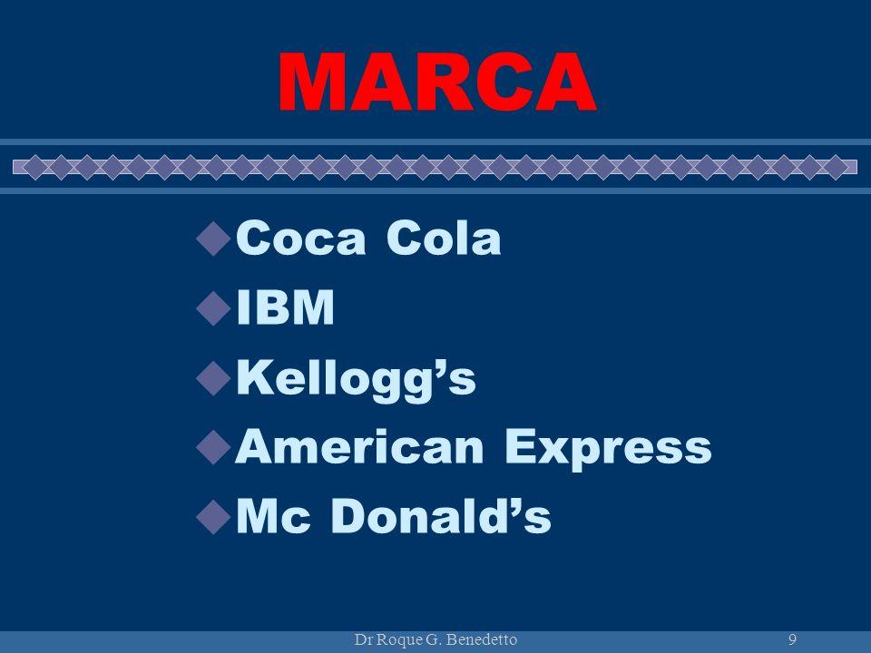 MARCA Coca Cola IBM Kellogg's American Express Mc Donald's