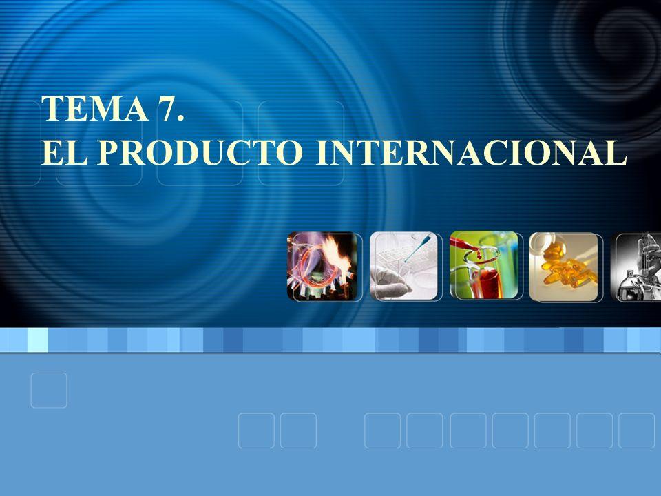 TEMA 7. EL PRODUCTO INTERNACIONAL