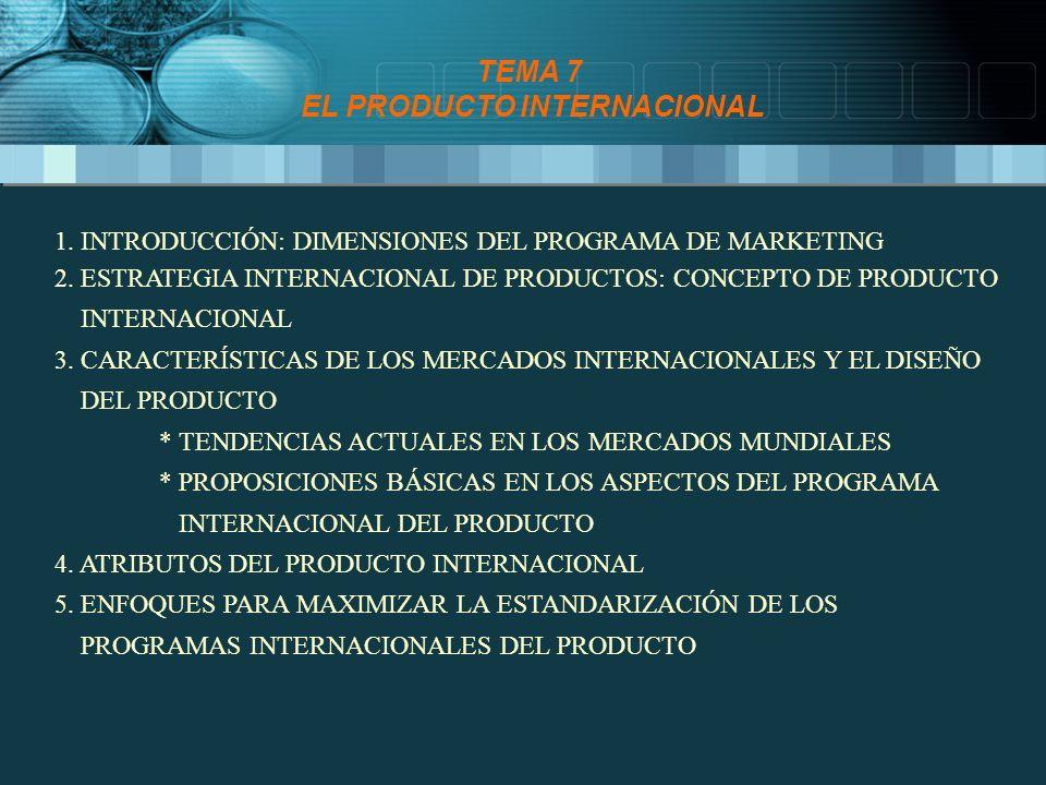 TEMA 7 EL PRODUCTO INTERNACIONAL