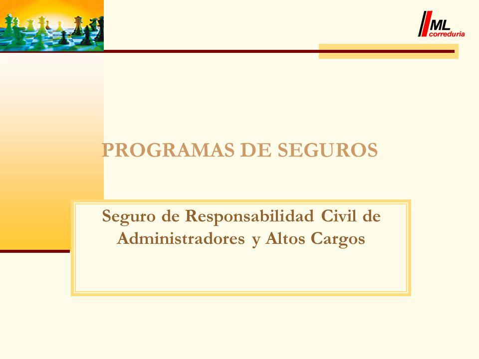 Seguro de Responsabilidad Civil de Administradores y Altos Cargos