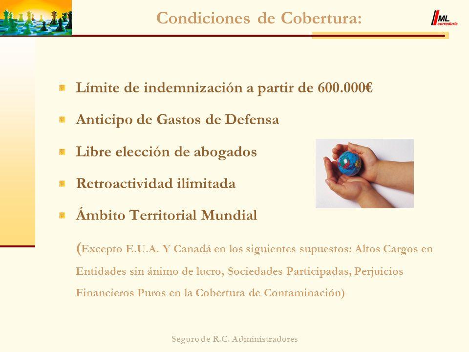 Condiciones de Cobertura: