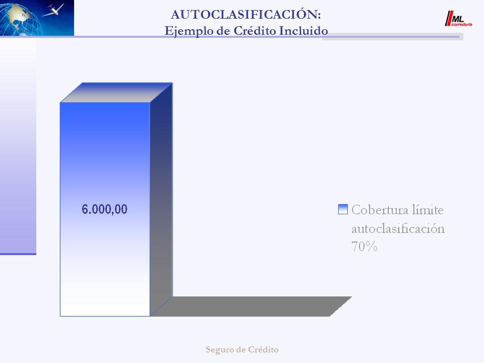 AUTOCLASIFICACIÓN: Ejemplo de Crédito Incluido