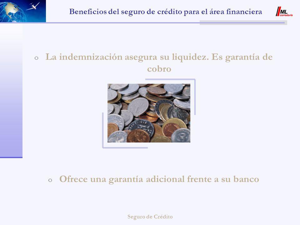 Beneficios del seguro de crédito para el área financiera