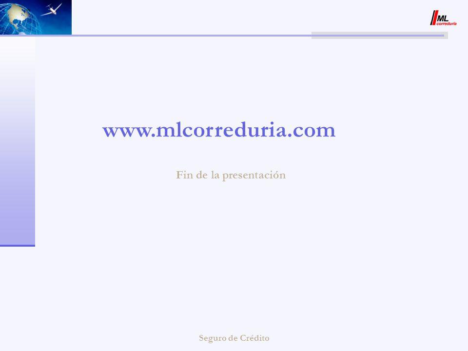 Fin de la presentación www.mlcorreduria.com Seguro de Crédito