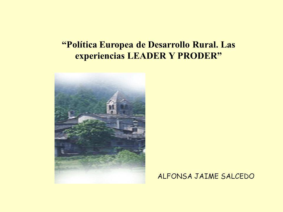Política Europea de Desarrollo Rural