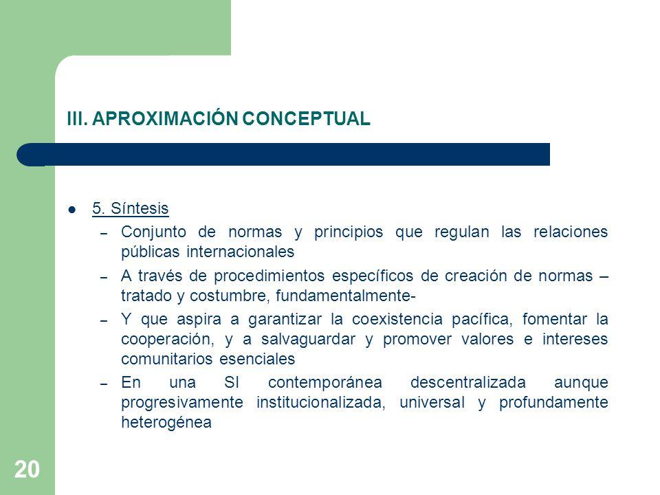 III. APROXIMACIÓN CONCEPTUAL