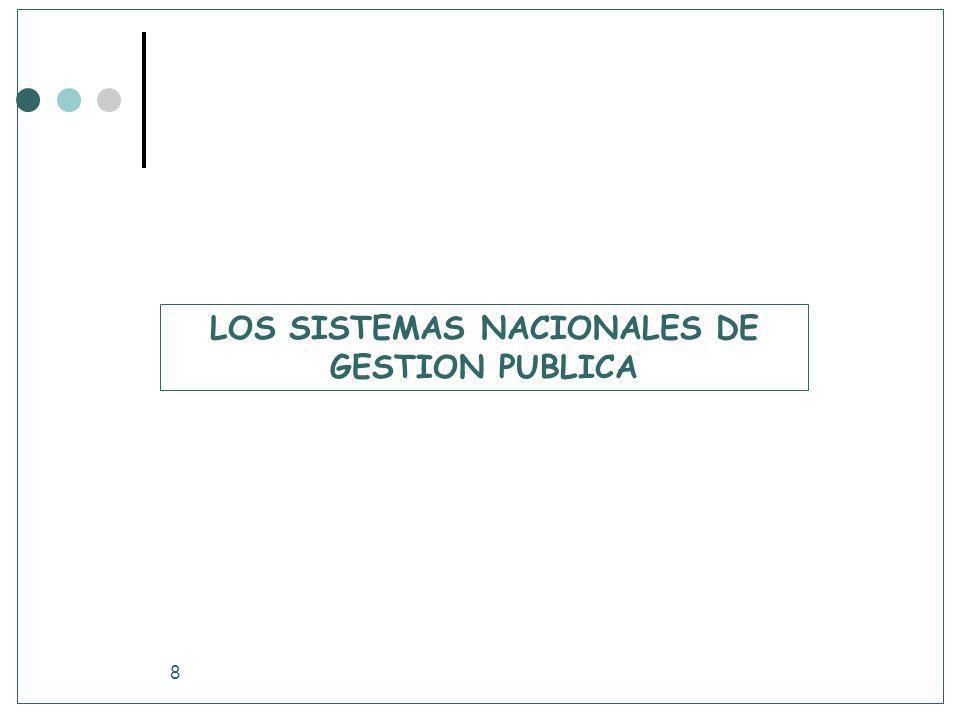 LOS SISTEMAS NACIONALES DE GESTION PUBLICA